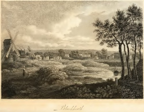 "Blackheath illustration from Thomas Noble's ""Blackheath""poem"