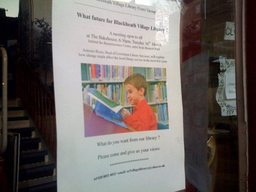 What future for Blackheath Village Library? poster