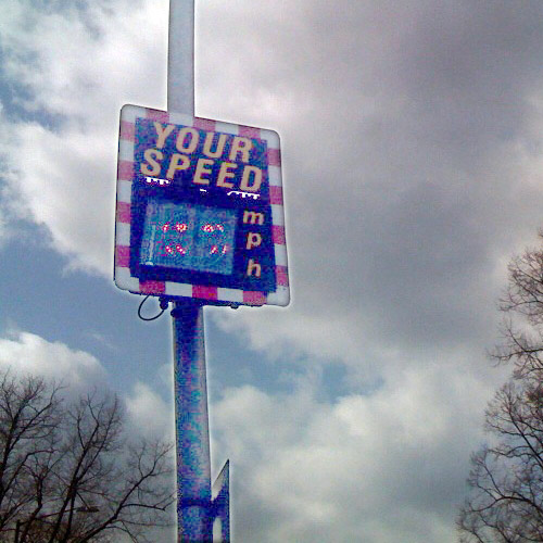 Your Speed flashing mph smiley face sign