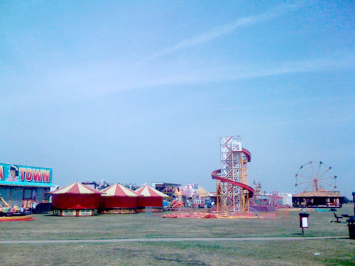 Mini funfair on Blackheath