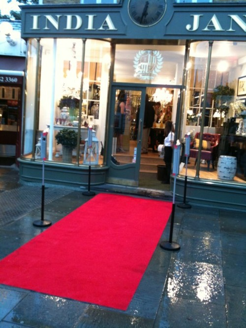 India Jane rolls out the red carpet