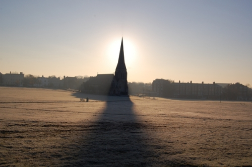 Blackheath in the frost by twitter user @AndyWilliams_