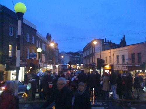 Blackheath High Street before the Christmas Lights switch on