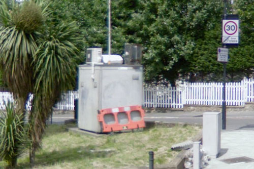 Air monitoring unit in Google Streetview