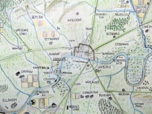 Hand drawn maps of Anglo-Saxon London by the Londonist