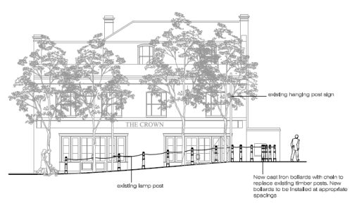 Detail from the Crown Pub Blackheath planning documents sent to Lewisham council