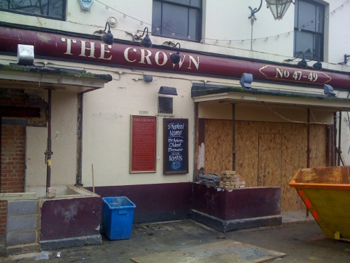 The Crown Pub Blackheath in its current state