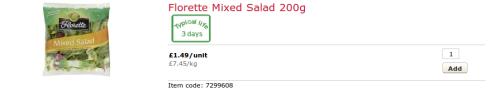 sainsburys florette salad
