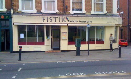 Fistik Kebab Brasserie restaurant in Blackheath, London, SE3