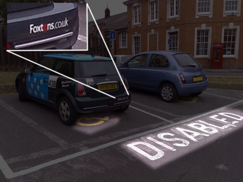 Foxtons parking in disabled spaces