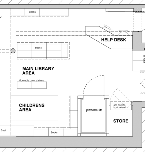 Library Bookshelves Plans