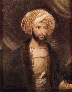 James Abbott dressed as an Indian noble. (B. Baldwin, 1841)