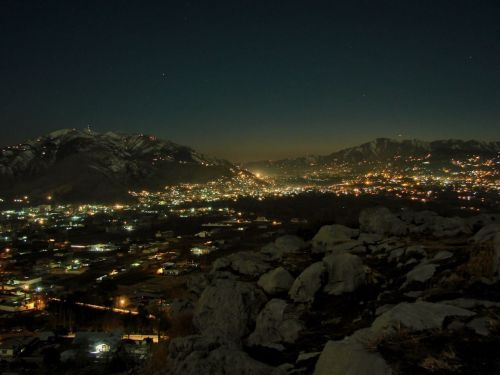 Abbottabad City at Night from wikipedia