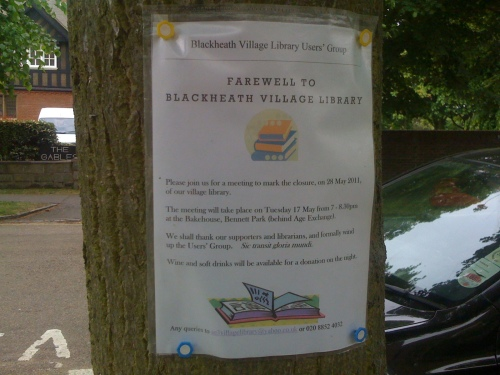 Farewell to Blackheath Library poster