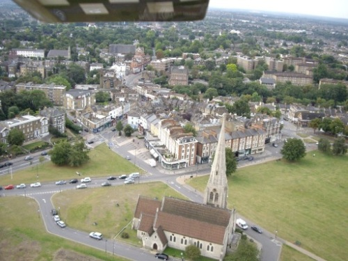 Blackheath Village Aerial View from model aircraft
