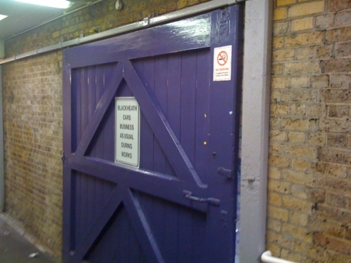 Sliding Blue Door that SouthEastern have decided to lock