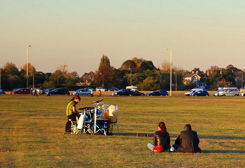 Drummer on Blackheath by Twitter user @spannarama