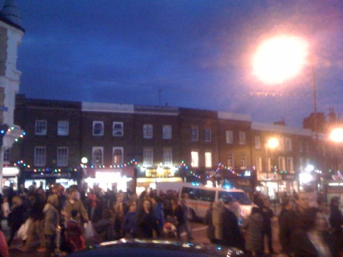 Blurry photo of Blackheath Christmas Lights 2011