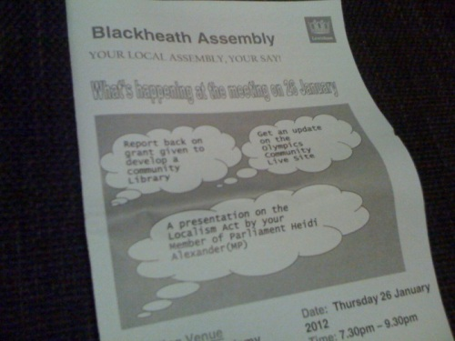 Blackheath Assembly Leaflet