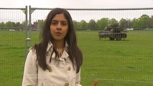 Blackheath missiles on ITV news