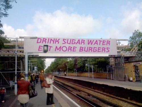 Blackheath station bridge for the Olympics