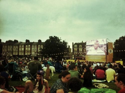 Blackheath before the Olympic opening ceremony by twitter user Inkey5