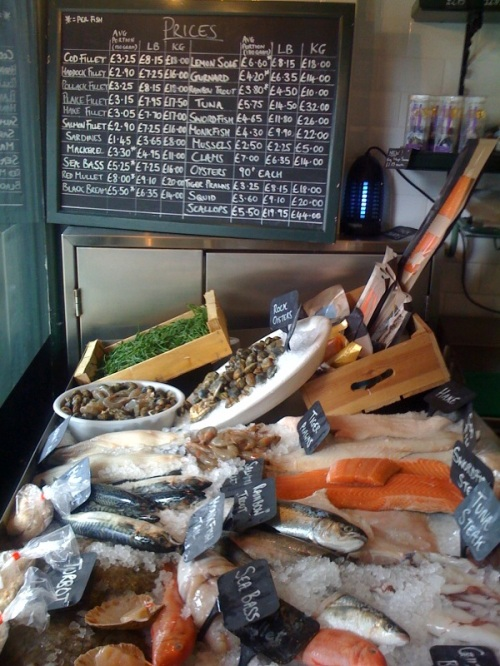 Coquillage photo, fish shop, Blackheath, fishmongers