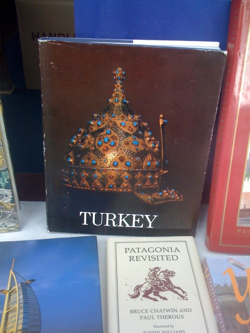 Book about Turkey in the Bookshop on the Heath's window