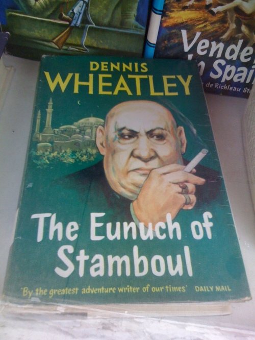 The Eunuch of Stamboul by Dennis Wheatley in the window of The Bookshop on the Heath
