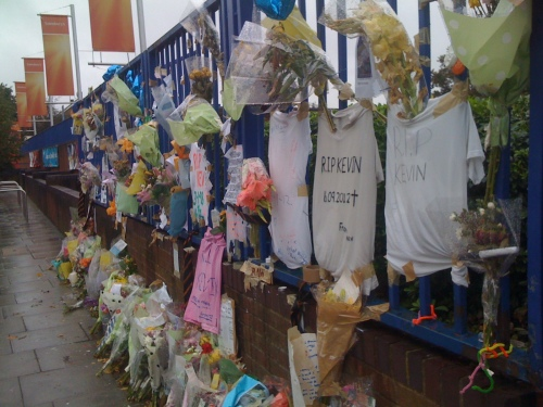 Tributes to Kevin Ssali, 14, killed at bus stop outside Lee Sainsbury's