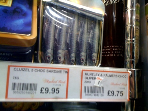 Chocolate sardines in Shepherd Foods
