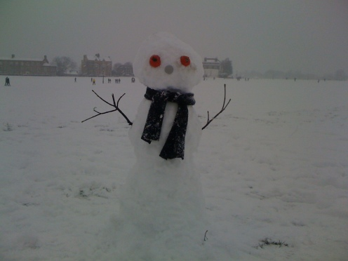 TOMATO SNOW MAN. YUM.