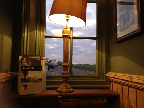 Lamp and window in Hare and Billet