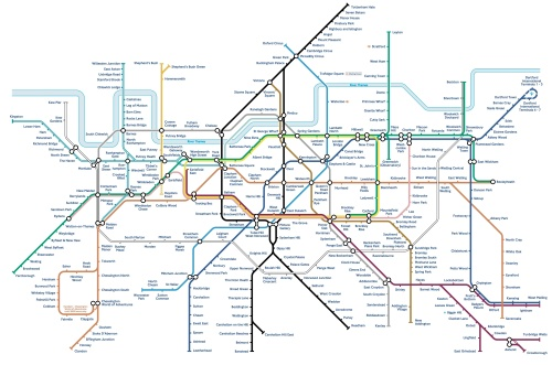 south london tube map